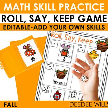 Roll, Say, Keep Math Fall