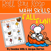Roll, Say, Keep Math Center Game Fall
