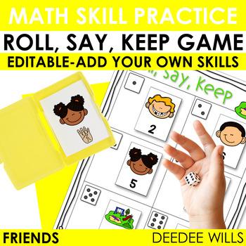 Roll, Say, Keep Math Friends