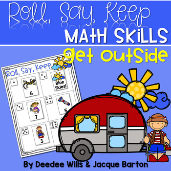 Roll, Say, Keep Math Get Outside