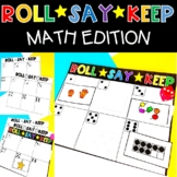 Roll Say Keep Math Numbers Shapes Subitizing Ten Frame Activities