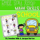 Roll, Say, Keep Math Center Game School