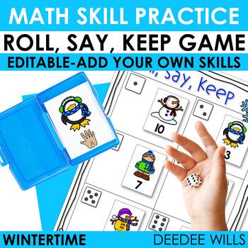 Roll, Say, Keep Math Winter
