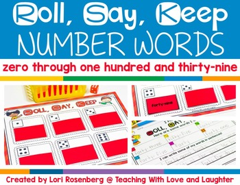 Roll, Say, Keep Number Words Edition