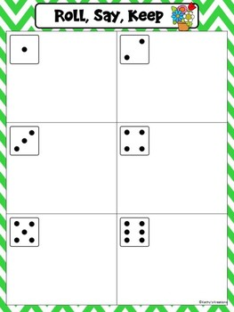 Roll, Say, Keep Numbers 1-50 & ABC
