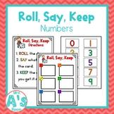 Roll, Say, Keep: Numbers