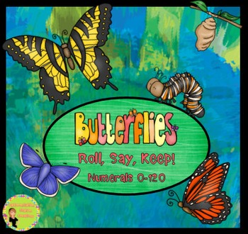 Roll, Say, Keep: Numerals 0-120, Butterflies