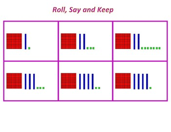 Roll, Say, Keep Place Value