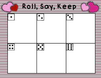 Roll, Say, Keep Valentine's Edition Numbers 1-120