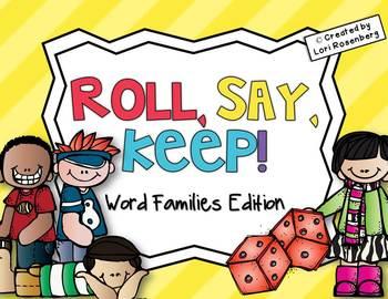 Word Families Roll, Say, Keep