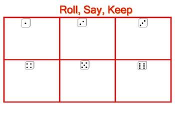 Roll, Say, Keep Word Families ean, eam. eep, eet