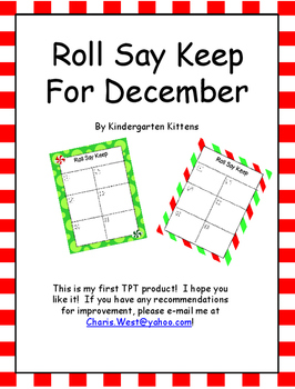 Roll Say Keep for December