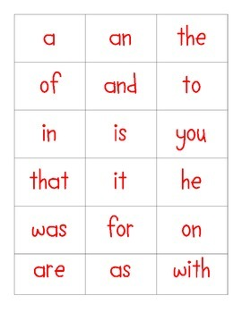 Roll, Say, Keep sight words