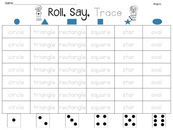 Roll, Say, Trace Basics