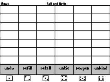 Roll, Say, WRITE!  Scott Foresman Unit 5 BUNDLE