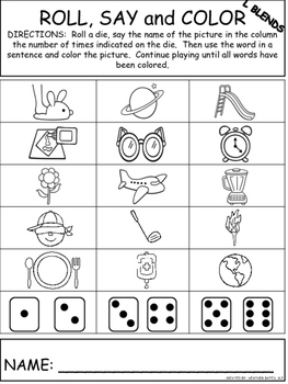Roll, Say, and Color for L, R, and S Blends