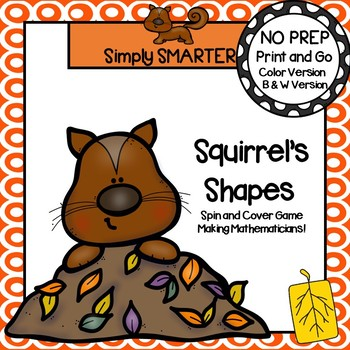 Spin and Cover Shapes:  NO PREP Squirrel Game