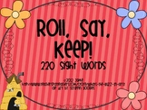 Roll, Say and Keep 220 Dolch Sight Word Game