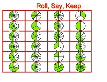 Roll, Say, and Keep Fractions