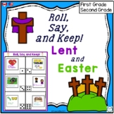 Roll Say and Keep Lent and Easter Reading Word Game