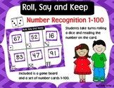 Roll, Say and Keep ~ Number Recognition 1-100