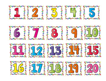 Roll, Say and Keep ~ Number Recognition 1-20 Holiday Themed
