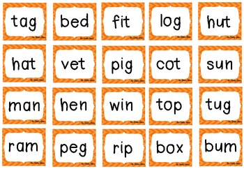 Roll, Say and Keep  ~ Reading CVC Words