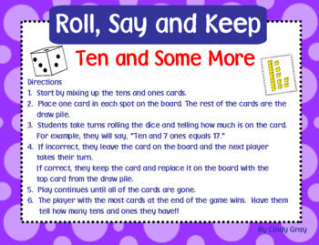 Roll, Say and Keep ~ Ten and Some More