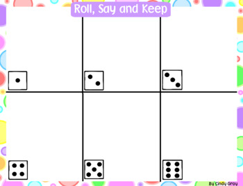 Roll, Say and Keep ~ What Shape Is This?