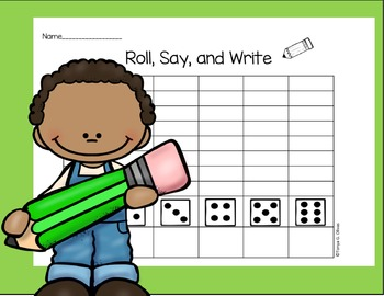 Roll, Say, and Write Word Game