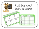 Roll, Say and Write a Word