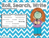 Roll, Search, Write Sight Words (Dolch Pre-Primer List)