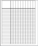 Roll Sheet/ Data Sheet