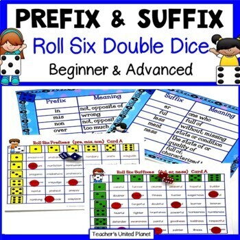 Prefix and Suffix Games - Roll Six Double Dice