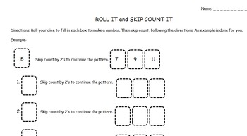 Roll & Skip Count