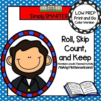 Roll, Skip Count, and Keep:  LOW PREP Roll, Say, Keep Activity