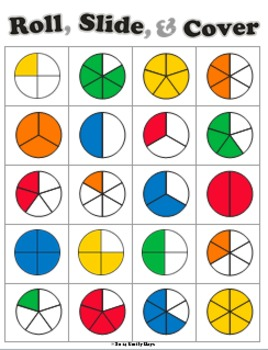 Roll Slide Cover Fraction Game