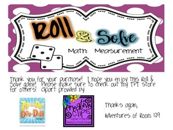Roll & Solve - Measurement Conversions