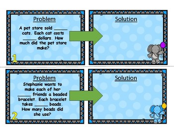 Roll & Solve Multiplication Word Problems Center