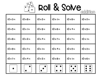 Roll & Solve {addition and subtraction}
