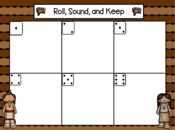Roll, Sound, and Keep:  LOW PREP American Indian Roll, Say, Keep Activity