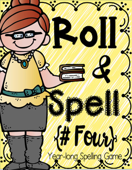 Roll & Spell 4 - Word Work / Spelling Game w/Paper phones