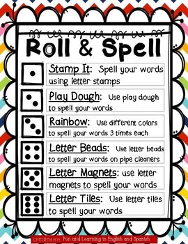 Roll & Spell Game (Word Work) - EDITABLE