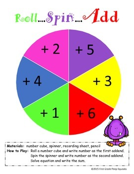 Roll, Spin, Add - Addition Game