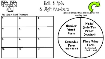Roll & Spin Place Value