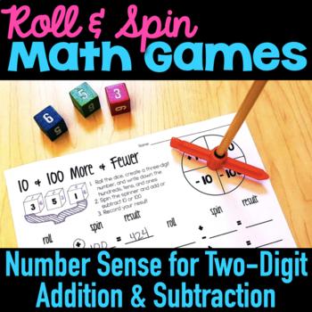 Roll & Spin Winter Math Games