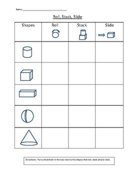 Roll, Stack, Slide Worksheet