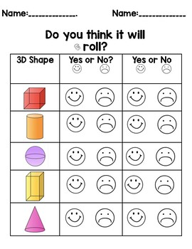Roll, Stack, and Slide 3D Shapes