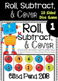 Roll, Subtract, & Cover 10 Sided Dice Game