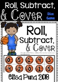 Roll, Subtract, & Cover Dice Game (Sport Themed)